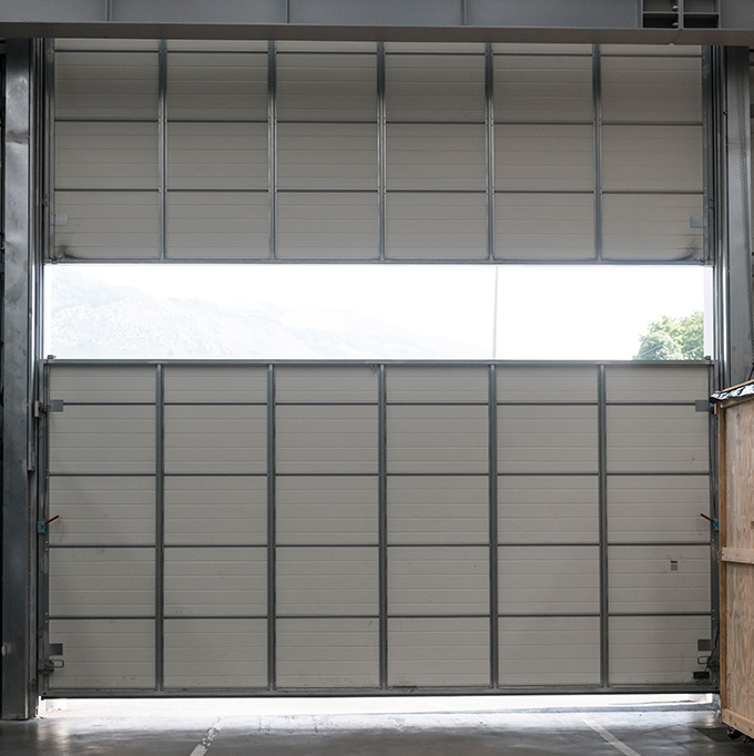 Puerta guillotina industrial